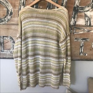 J. Jill Sweaters - J Jill linen and cotton blend open weave sweater